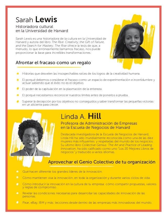 Linda A. Hill Profesora de Administración de Empresas en la Escuela de Negocios de Harvard Aprovechar el Genio Colectivo d...