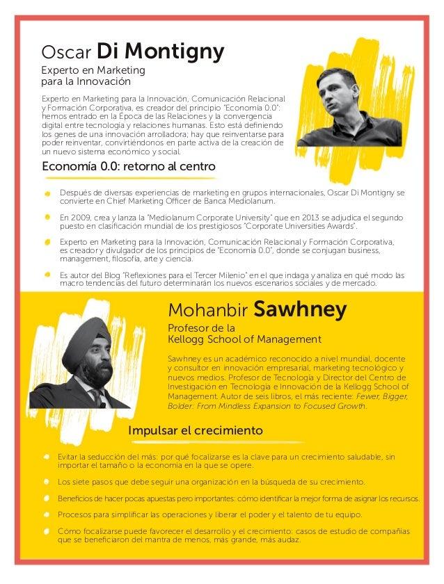 Mohanbir Sawhney Oscar Di Montigny Profesor de la Kellogg School of Management Experto en Marketing para la Innovación Saw...