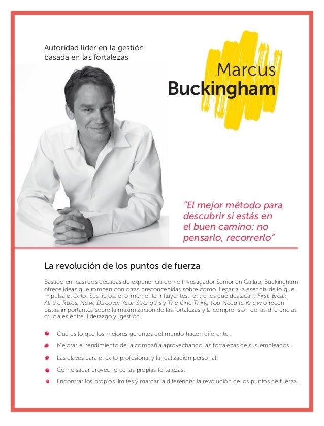 """Marcus Buckingham La revolución de los puntos de fuerza """"El mejor método para descubrir si estás en el buen camino: no pen..."""
