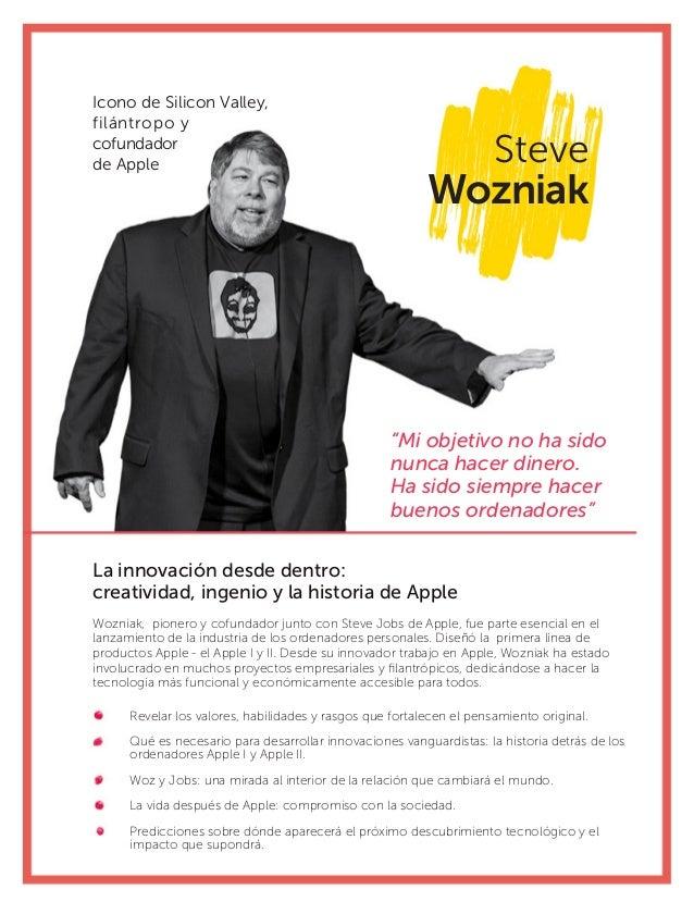 """Steve Wozniak La innovación desde dentro: creatividad, ingenio y la historia de Apple """"Mi objetivo no ha sido nunca hacer ..."""