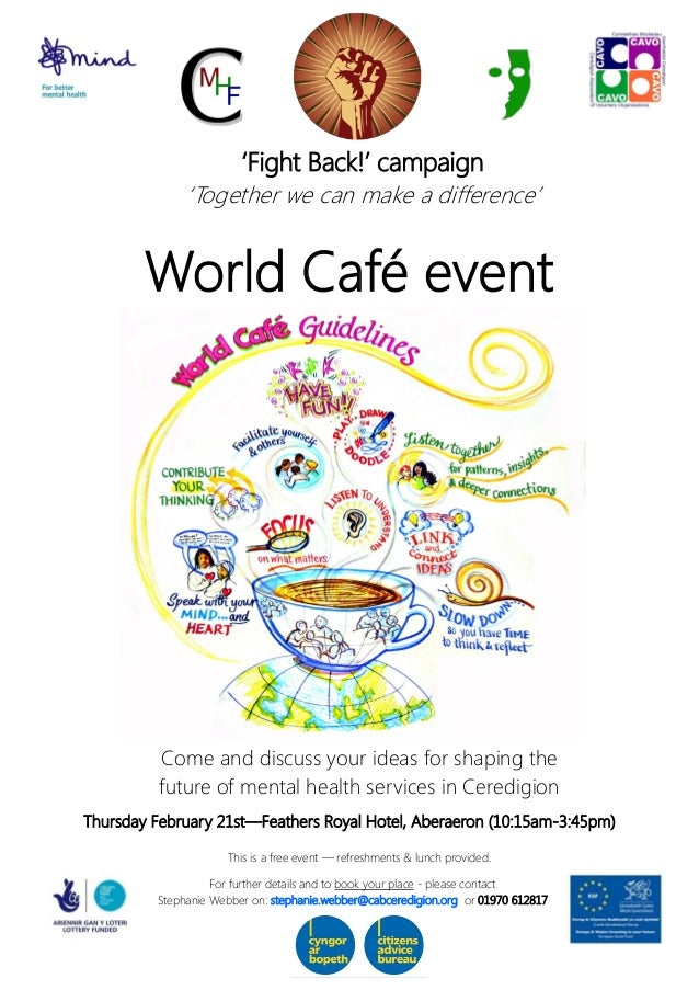 world cafe event poster  english
