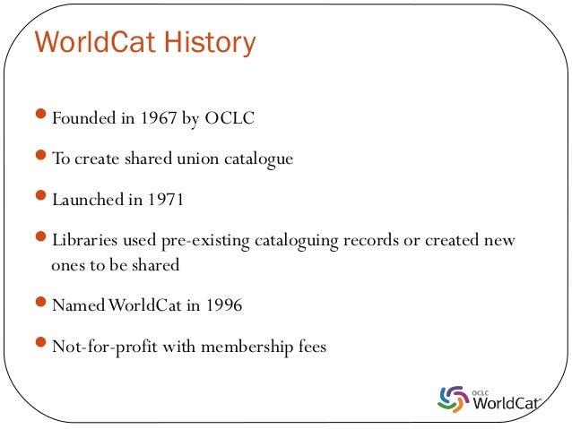WorldCat Presentation Slide 2