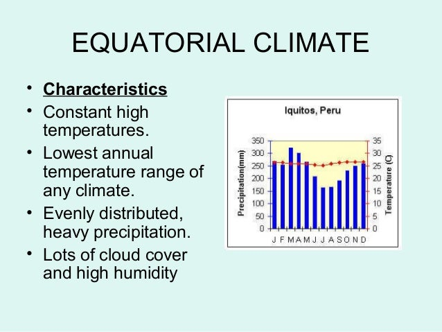 equatorial regions Vegetation and soil in equatorial regions in equatorial regions, the year round high temperatures and abundant rainfall support plant growth all year round.