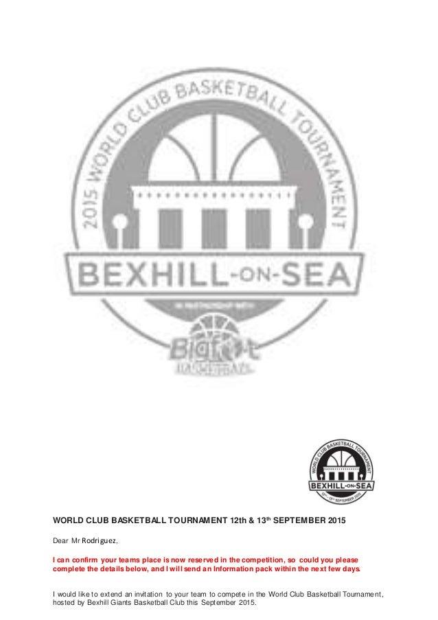 World clubbasketballtournament registrationform