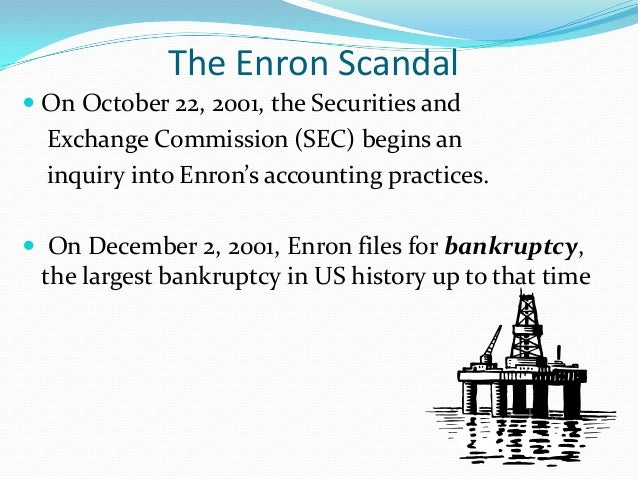 the consequences of the enron company scandal involving mark to market accounting Embroiled in an accounting scandal, enron corporation filed for  terrorists  struck the world trade center and pentagon with devastating effect with that   in this context, mark-to-market accounting became mark-to-model.