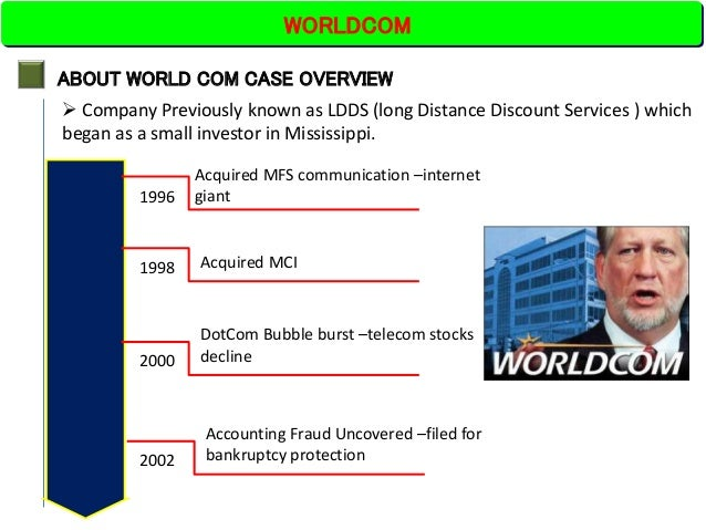 acct 495 worldcom case questions What began as a routine internal audit, transformed into the largest accounting  manipulation of all time worldcom, a leading telecommunications company built .