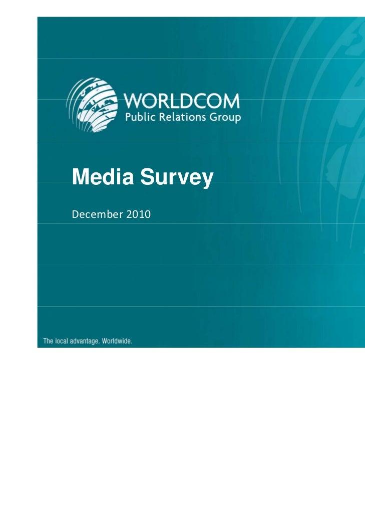 Media SurveyDecember2010