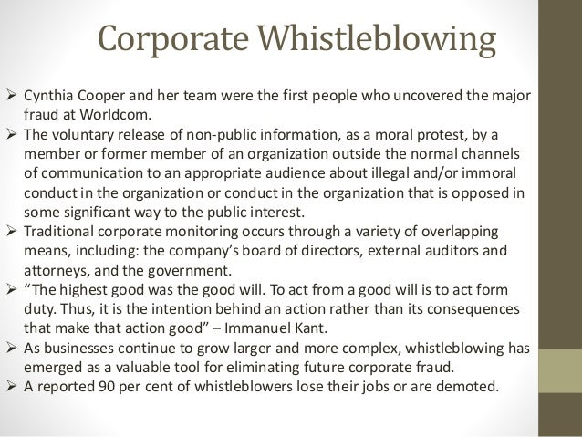 cynthia cooper journey of a whistleblower Extraordinary circumstances: the journey of a corporate whistleblower - ebook written by cynthia cooper read this book using google play books app on your pc, android, ios devices.