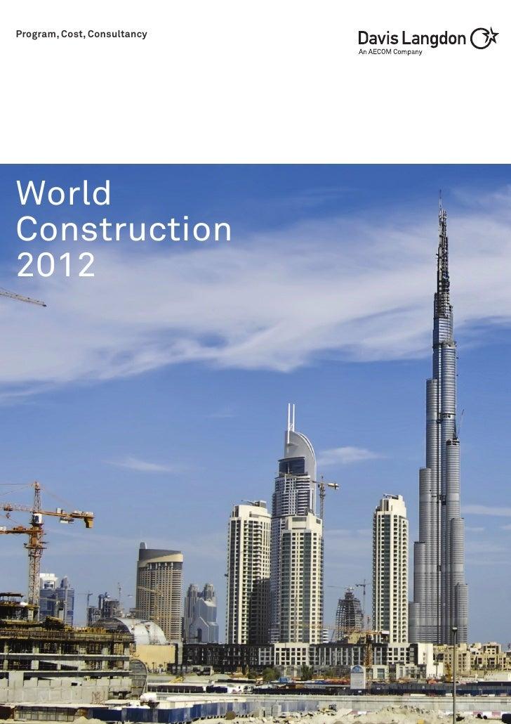 Program, Cost, ConsultancyWorldConstruction2012