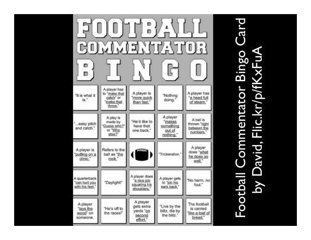 FootballCommentatorBingoCard byDavid,Flic.kr/p/fKxFuA