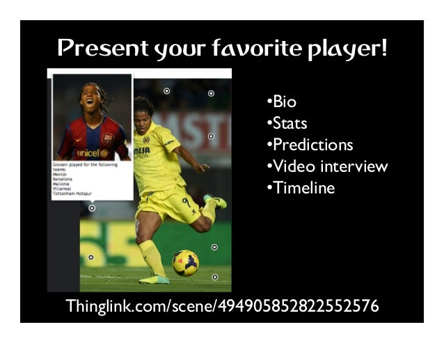 Thinglink.com/scene/494905852822552576 Present your favorite player! •Bio •Stats •Predictions •Video interview •Timel...