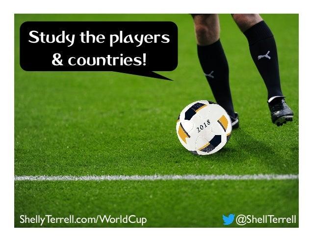 @ShellTerrellShellyTerrell.com/WorldCup Study the players & countries!