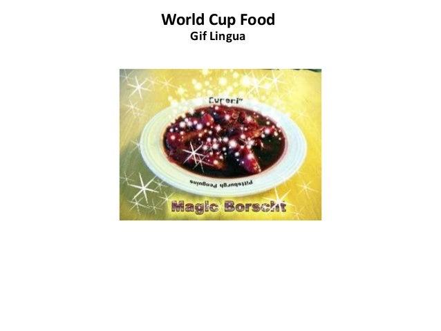 World Cup Food Gif Lingua