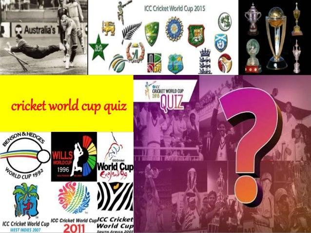 World Cup Cricket Quiz