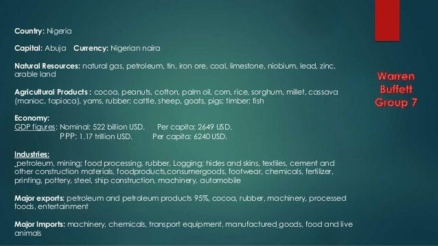 Natural Resources Nigeria Imports