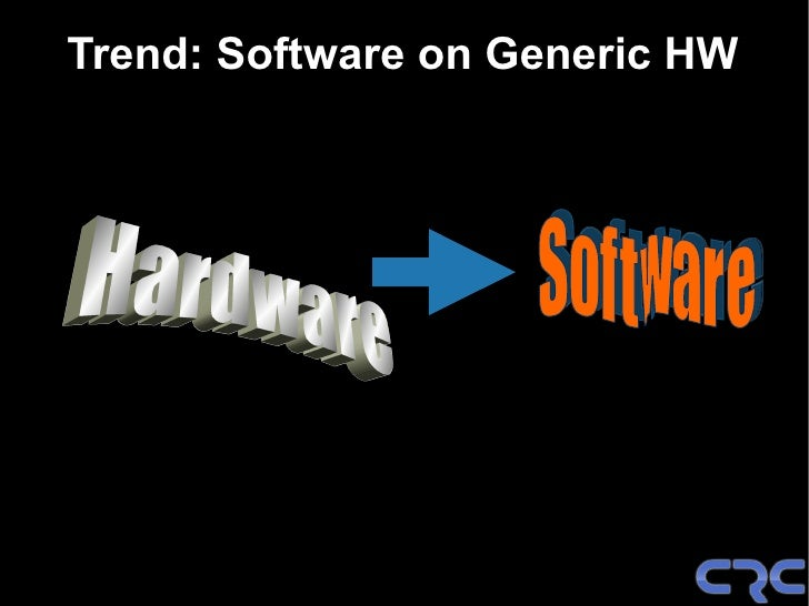 Trend: Software on Generic HW