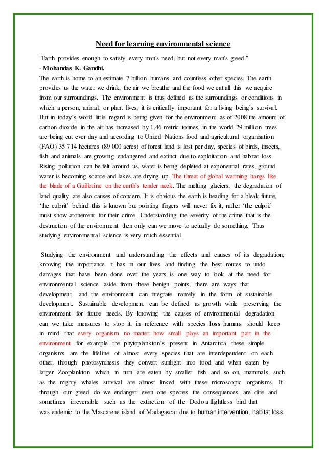 ecological problems in the world essay An environment is the natural world which surrounds the earth and makes a particular geographical area in which human beings, animals, plants and other living and non-living things exist long and short essay on environment in english.