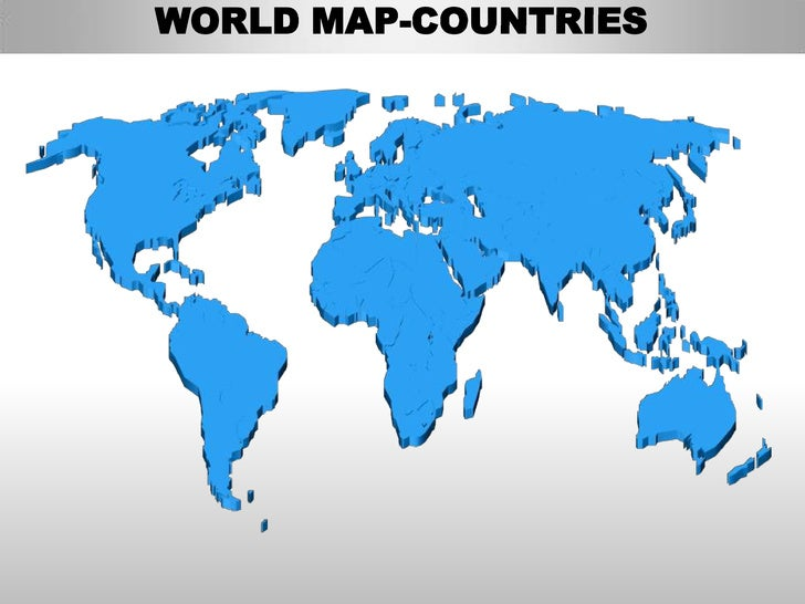 World Editable Continent Map With Countries - World map with countries