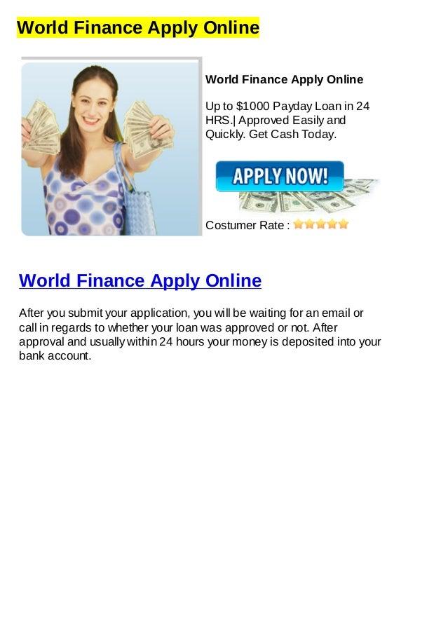 World Finance Apply Online
