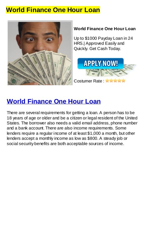 World Finance One Hour Loan