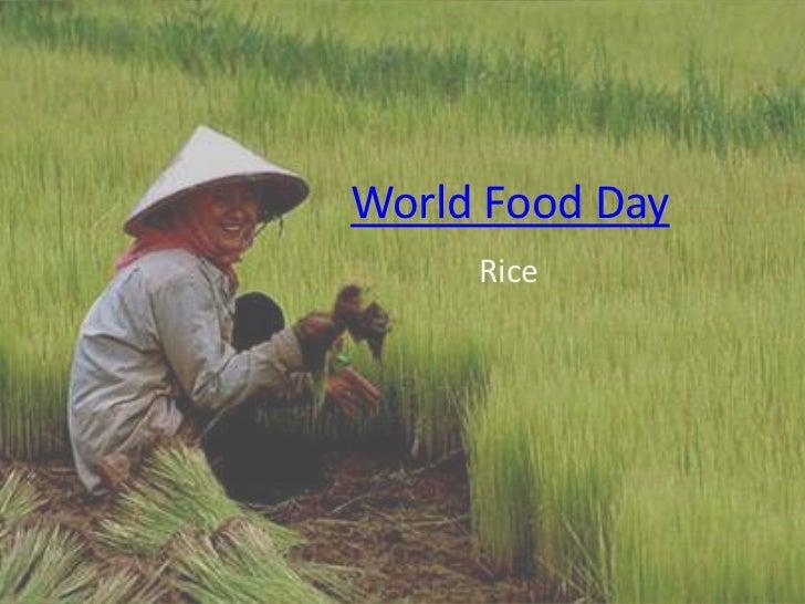 World Food Day     Rice