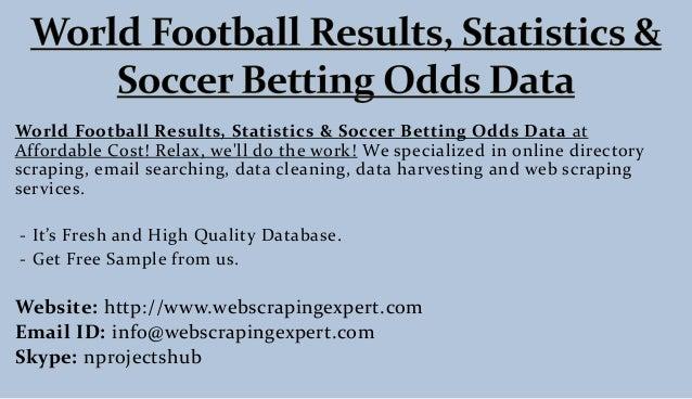 World football betting stats football betting presidency