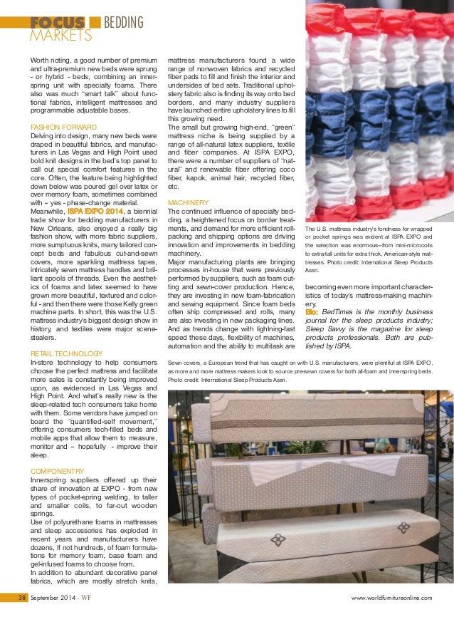 Focus on Mattresses - World Furniture - International Market Review b…
