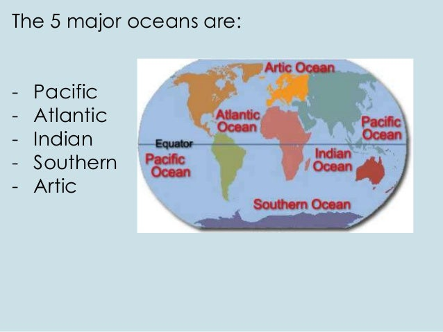World Geography Part - The five major oceans