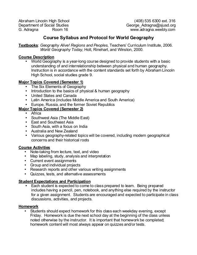 world geography homework