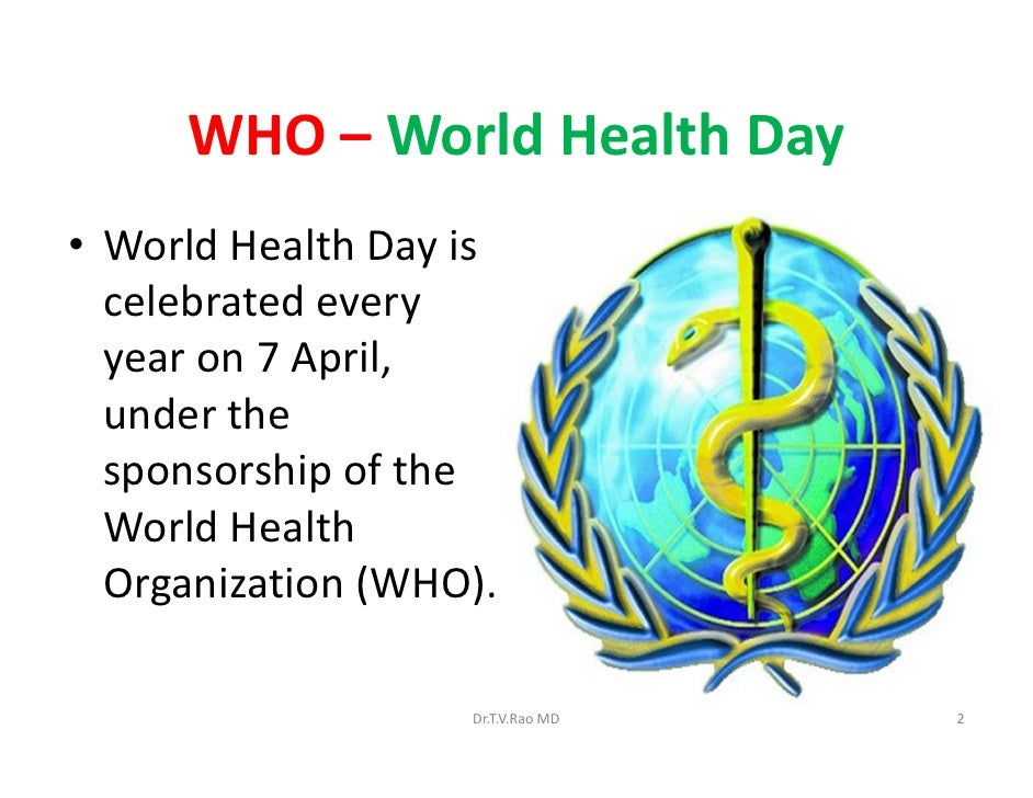 world health day On 8th & 9th of april sbps organized activities on 'world health day' the pupils of grade iii to viii were encouraged to undertake the activities.