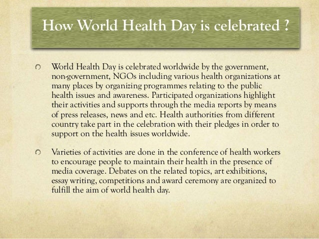 World Health Day Essay Writing | Mistyhamel