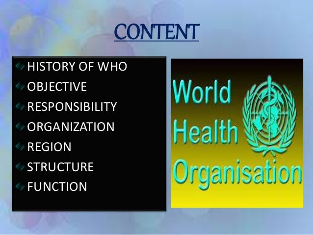world health organization history essay Find information about world health day on 7 th of april under the leadership of world health organization to draw the mass people health is wealth essay.