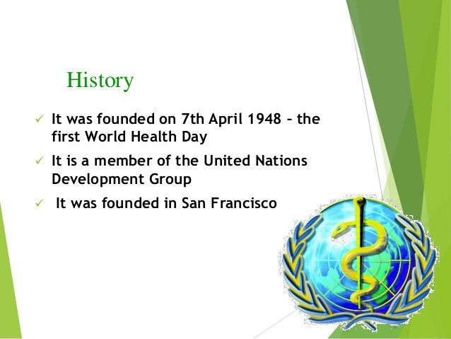 Why was it founded?  International health cooperation began with the first International Sanitary Conference in Paris, wh...