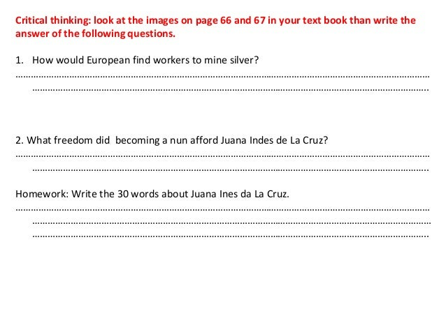 critical thinking questions ap world Why critical thinking you can also use wrong answers as opportunities to explore your students' thinking then ask more questions to who teaches ap world.
