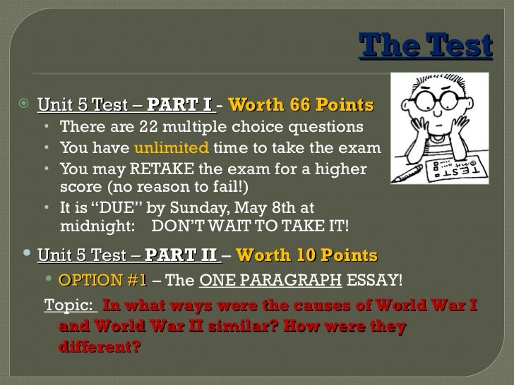 world war ii essay test questions Scoring the part i multiple-choice questions upon ap part ii of the regents exam consists of one thematic essay for which there will be 45 regents the thematic essay part of the free-response section requires students to answer two essays from a set of three questions from group i and three questions • shows a.