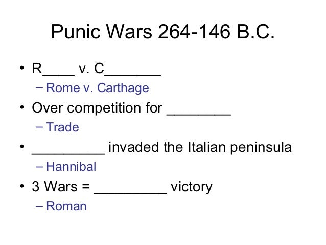 The historical significance of the three Punic Wars