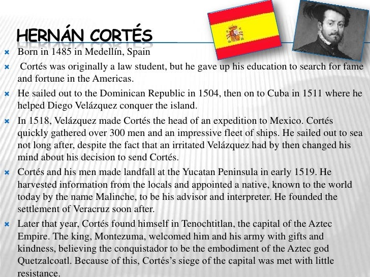 who did hernando cortes sail for