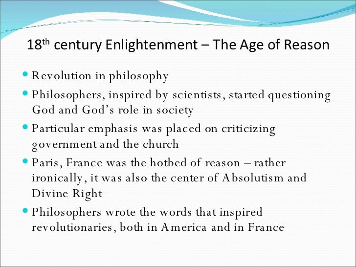 a comparison of the age of enlightenment and the age of absolutism in world history In this regard, this age is the age of enlightenment, the century of frederick  and at the end of the essay he stresses that the ruler must have a well-disciplined, numerous army to guarantee public peace.