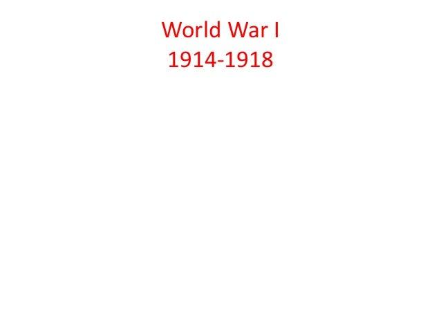 World War I1914-1918