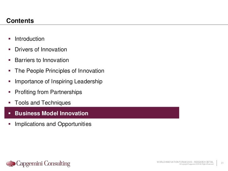 Globalization is a catalyst for innovation in three major areas
