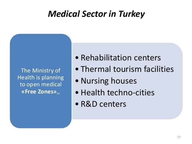 • Rehabilitation centers • Thermal tourism facilities • Nursing houses • Health techno-cities • R&D centers The Ministry o...