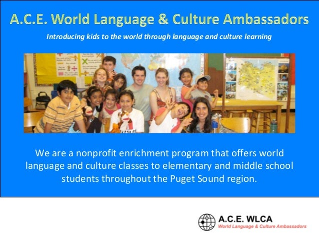Introducing kids to the world through language and culture learning We are a nonprofit enrichment program that offers worl...