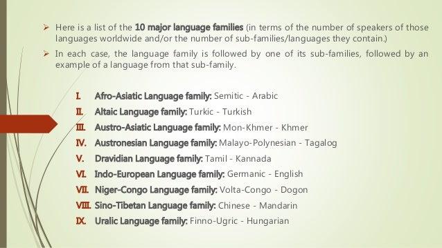 Presentation On World Language Regions