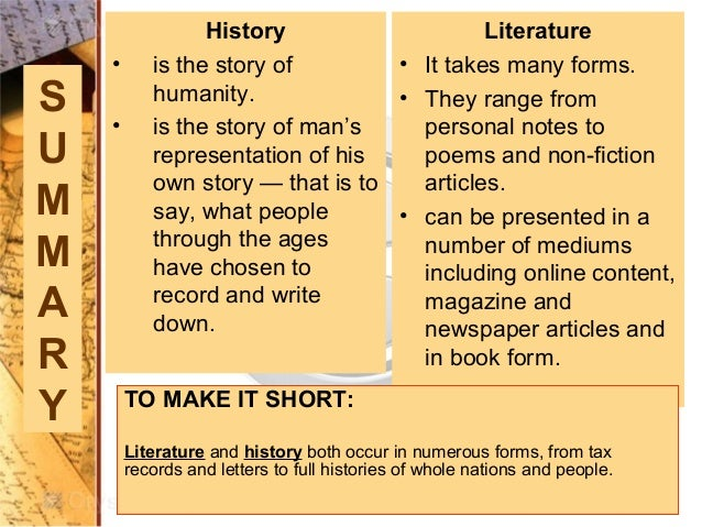 what is the history of literature