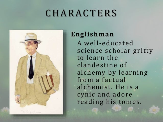 the alchemist book review  characters englishman