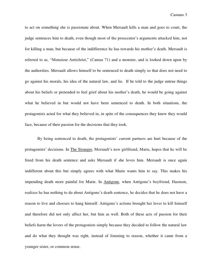 english sl world literature essay  goes against reason 3