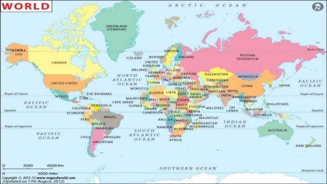 World Location And Topography - World topography
