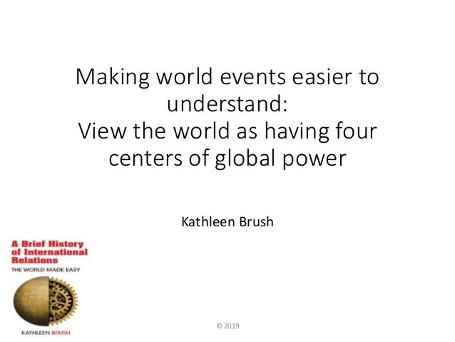 Making world events easier to understand: View the world as having four centers of global power Kathleen Brush © 2019