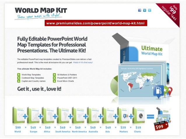 Worldmap premiumslidespowerpointworld map kitml gumiabroncs Images