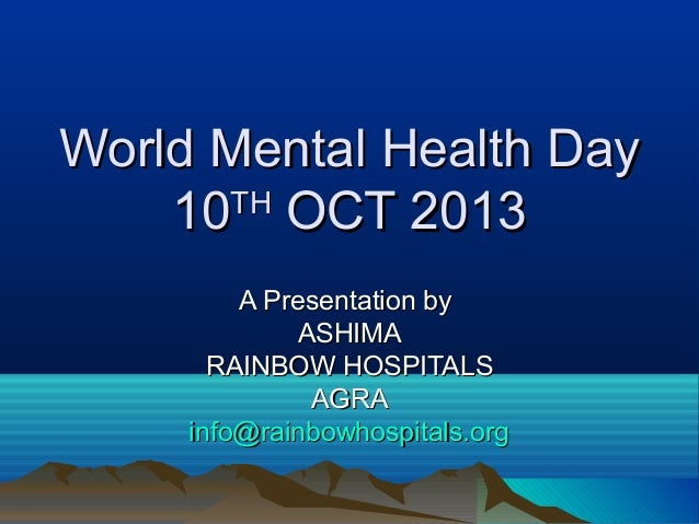 world mental health day 2010